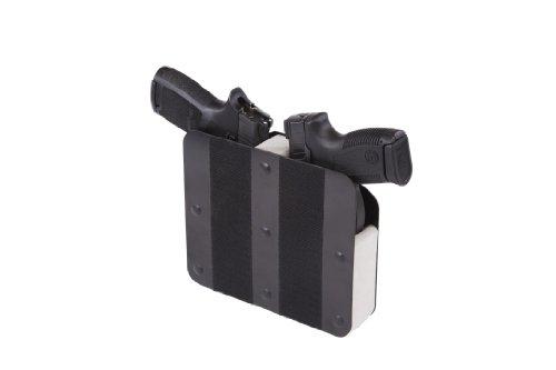 Benchmaster - Weapon Rack - Two (2) Gun Pistol Rack - Velcro Hook - Gun Safe Storage Accessories - Gun Rack