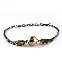 Harry Potter Quidditch Golden Snitch Bracelets chain fashion golden jewelry fan gift