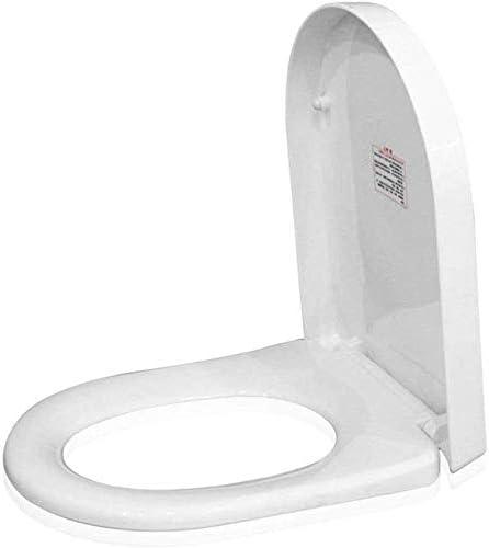 CXMWYトイレのふた 便座ビッグUシェイプトイレバスルーム、洗面所用緩衝パッドクイックリリース超耐性トイレカバーでふた、ホワイト-45-47 * 36センチメートル