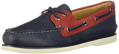 Sperry Top-Sider Gold Cup Authentic Original Chevre Boat Shoe Men 11 Navy/Red