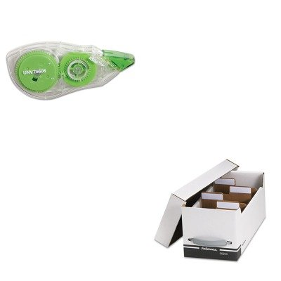 KITFEL96503UNV75606 - Value Kit - Fellowes Corrugated Media File (FEL96503) and Universal Correction Tape with Two-Way Dispenser (UNV75606)