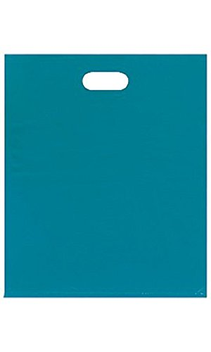 Large Low Density Teal Merchandise Bags - Case of 500 by STORE001