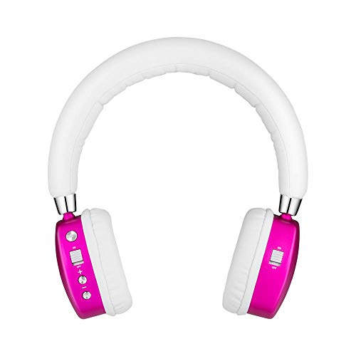 Puro Sound Labs PuroQuiet Kids Volume-Limiting Noise-Cancelling On-Ear Wireless Headphones (Pink)