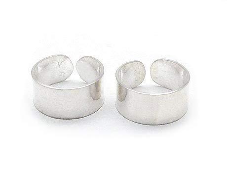 Sterling Silver Plain High Polish Huggie Ear Cuff Pair ()