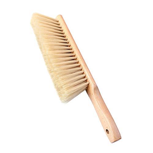 (Huibot Hand Broom Oiled Beech Wood Handle Soft Bristle Brush 14 Inch Long (Yellow))