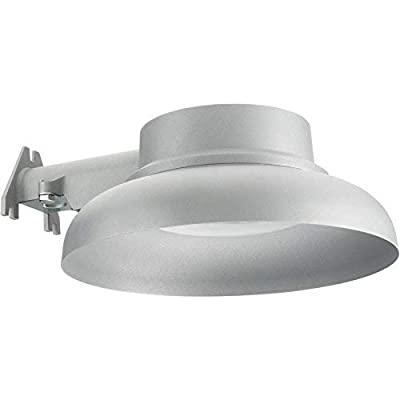 Lithonia Lighting Gray Outdoor Integrated LED 4000K Area Light with Dusk to Dawn Photocell