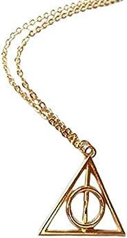 Colar Relíquias Da Morte Harry Potter Dourado -