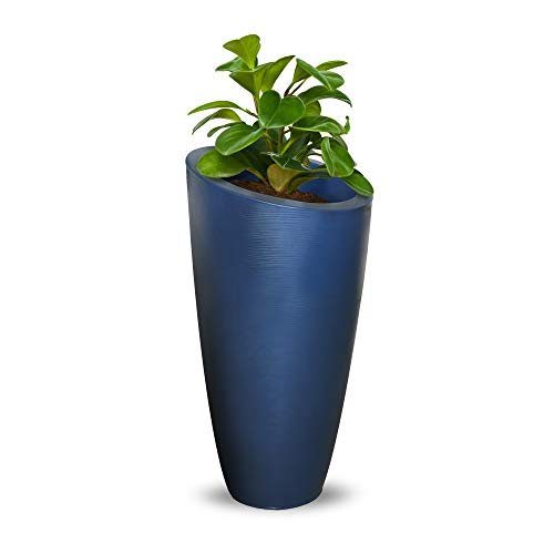 Mayne 8880-NB Modesto 32in Tall Patio Planter, Neptune Blue