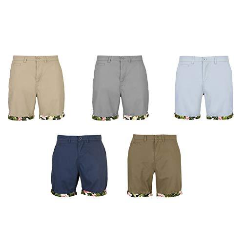 (Pierre Cardin Turn Up Shorts Mens Bottoms Short Pants Summerwear Grey X-Large)