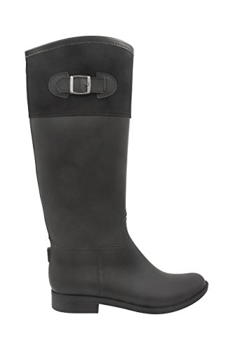 Mid Modern Full High calf Zipper Knee Rain boot Black Womens With Peyton Rush Back RUqwxUCf