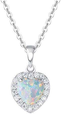 FANCIME Sterling Necklace Zirconia Birthstone product image