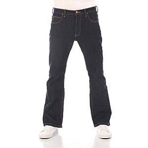 Lee Denver Jean stretch en coton pour homme Coupe bootcut Bleu Tailles W30 à W44
