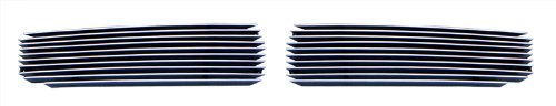 Billet Cover Inserts (MaxMate 05-2010 Chrysler 300 2PC Bumper Replacement Cover Fog Lights Polished Billet Grille Grill Insert)