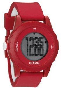Nixon Men's A326-200 Alakazam! The Genie Red/Black Digital Plastic Watch (Watches Nixon Genie)