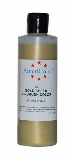 AmeriColor Amerimist Airbrush Color 9 Ounce, Gold Metallic Sheen (4-Pack)
