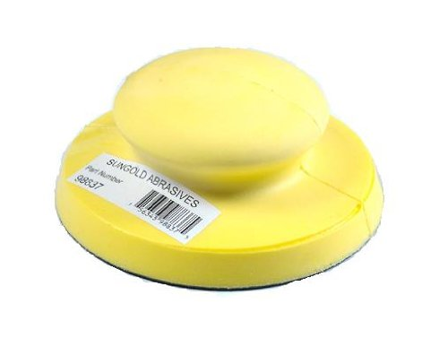 Hand Sanding Block - Sungold Abrasives 98837 Hand Sanding Block for 5-Inch PSA-Stick-on Discs