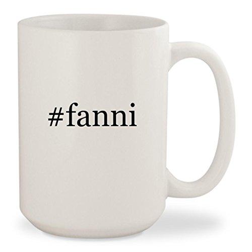 #fanni - White Hashtag 15oz Ceramic Coffee Mug Cup