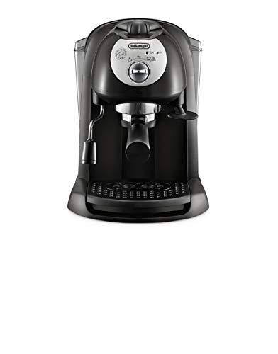 De'longhi EC201.CD.B – Cafetera de bomba tradicional (15 bar de presión, 2 tazas, café molido o filtros monodosis) negro