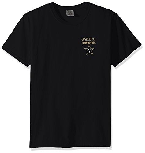 NCAA Vanderbilt Commodores Adult Unisex NCAA Limited Edition Comfort Color Short sleeve T-Shirt,XL,Black