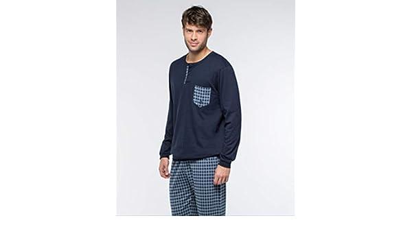 Guasch Pijama, Camiseta con Bolsillo a Juego con el pantalón. Pantalón a Cuadros y con Bolsillos.: Amazon.es: Ropa y accesorios
