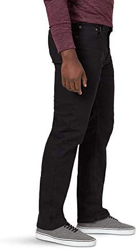 315UutHW%2BCL. AC Wrangler Authentics Men's Big & Tall Classic 5-Pocket Regular Fit Flex Jean    Wrangler men's classic regular rit jean. This jean is constructed with durable materials Built for long-lasting comfort. Made with a classic fit, this jean sits at the natural waist and features a regular set and thigh.