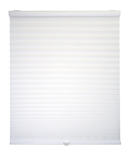 Cordless Light Filter Pleated Shade, White, 30W x 64L
