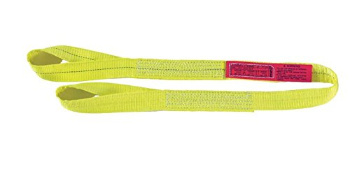 (Liftall EE2601DTX6 Polyester Web Sling, 2-ply, Eye and Eye, Twisted Eye, 1