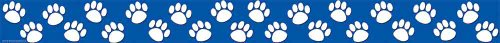 Teacher Created Resources Blue with White Paw Prints Straight Border Trim (4620)