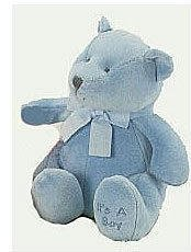 (Brahms Baby Rattle Bear - Blue)