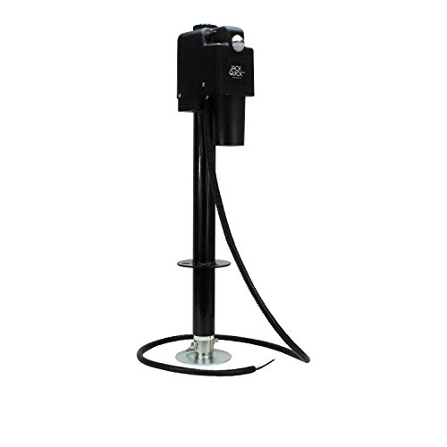Jack Quick 3500 JQ-3500B 12V Electric Tongue Jack with single Lights, 3650 lb. Capacity / Black