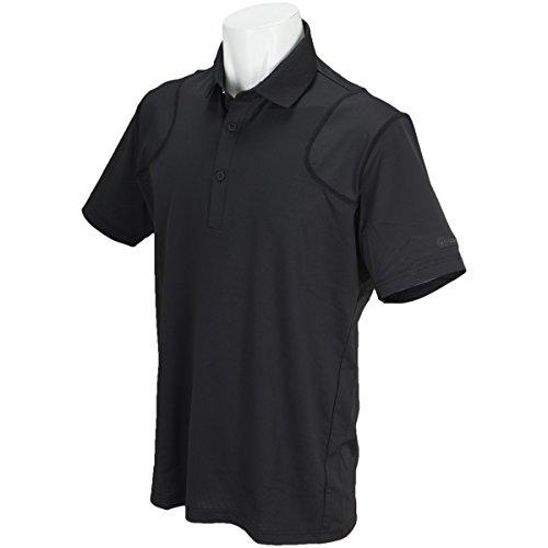 ブリヂストン TOUR B ULTICORE 半袖シャツ?ポロシャツ ストレッチ 半袖3D解析ポロシャツ ブラック M