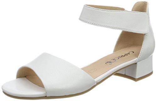 Bride 28212 white Sandales Femme Blanc Perlato Cheville Caprice 139 w7ASEqS