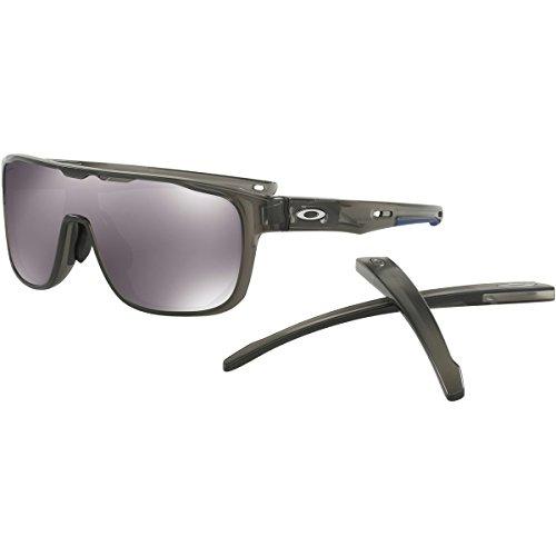 Oakley Men's Crossrange Shield (a) Non-Polarized Iridium Rectangular Sunglasses, Matte Grey Smoke, 0 - Glasses Oakley Range