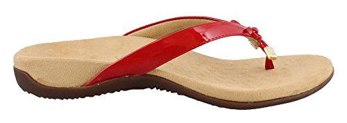 Synthetic II Bella Patent 44 Womens Rest Sandals VIONIC Red CXqw1xtXI