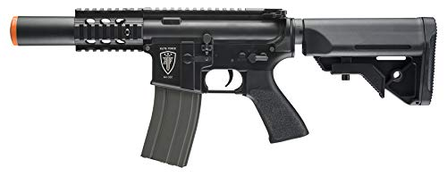 Elite Force M4 AEG Automatic 6mm BB Rifle Airsoft Gun, CQC, Black