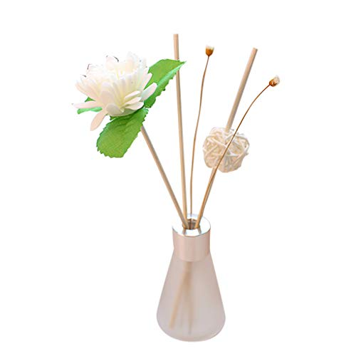 50ML Scented Oil,Reed Oil Diffusers for House Office Room Parlor Saloon Indoor,Glass Bottle with Natural Sticks,Gift for Your Parents Friends Wife Husband Lover,Refreshed Oil (Osmanthus fragrans)