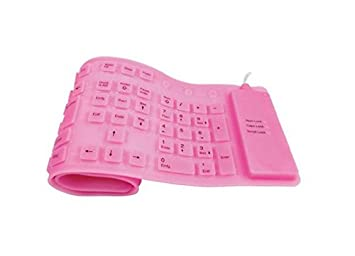 Vendopolis Teclado Flexible de Silicona USB con Letra Ñ (Rosa): Amazon.es: Electrónica
