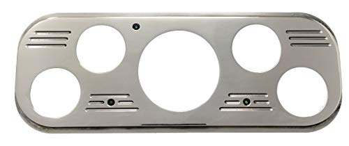 Dolphin Gauges 1937 1938 Chevy Car Rear Mount Dash Insert - Polished Billet Aluminum