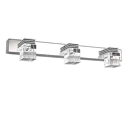 Ikakon Bathroom Vanity Light 9W 3 LED Front Mirror Light Stainless Steel Make-up Lighting Fixtures Bathroom Wall Lamp, Cool White