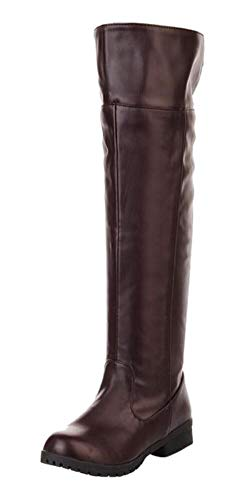 - Ace Men's Cos-Play Knee-high Boot Riding Boots (11, Brown)