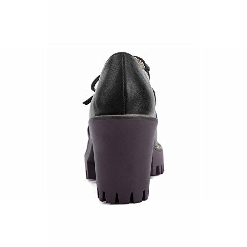 Dameslaarzen Bowknots Mode Comfort Date Platform Hoge Hak Enkellaarzen Zwart