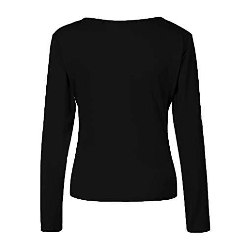 Corta Donna Nero Camicia Unita Manica Tinta ITISME Impero TOPS DAMEN 8q0zSz