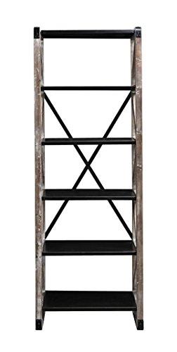 Burnham Home Montevina Bookshelf, White Wash & Black