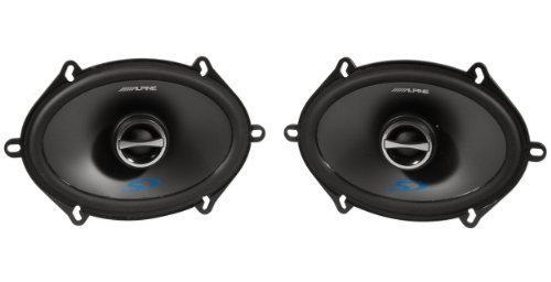 Alpine Sps-517 5 x 7 Inch 2 Way Pair of Car Speakers Totalling 460 Watts Peak / 150 Watts RMS