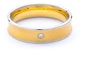 Breuning 18K Yellow Gold 0.02ct Diamond Wedding Band Ring [BR6239]