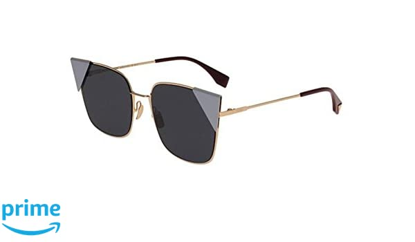 c14d7c0881 Amazon.com  New Fendi LEI FF 0191 S 000 A9 Rose Gold Violet Blue Sunglasses   Clothing