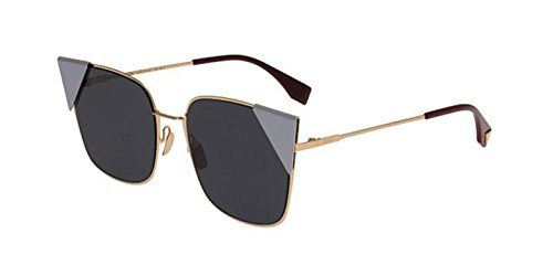 New Fendi LEI FF 0191/S 000/A9 Rose Gold Violet /Blue Sunglasses