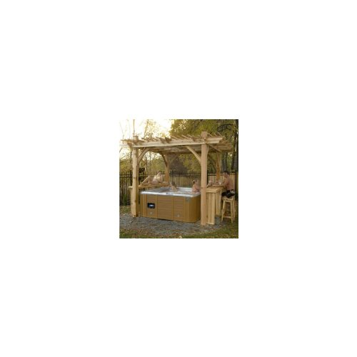 Hot Tub Gazebos (Sunset Boulevard Pergola with Bar - 11feet x 9feet, Owning a hot tub is all about making time for yourself and your family. pre-cut, notched and pre-drilled, allowing for easy,)