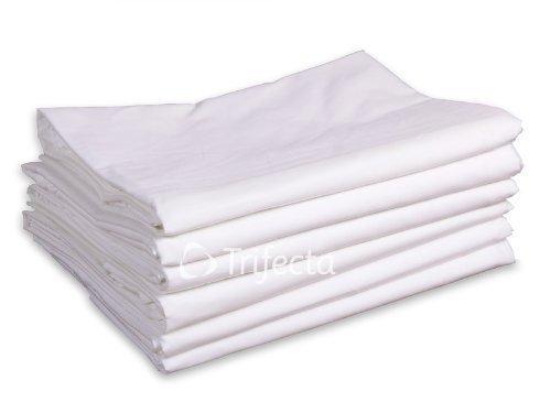 Hospital Bed Flat Sheet–white, Soft Cotton Blend, 42