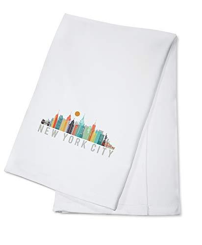 New York City - City Vector Opacity - White Version (100% Cotton Kitchen Towel)
